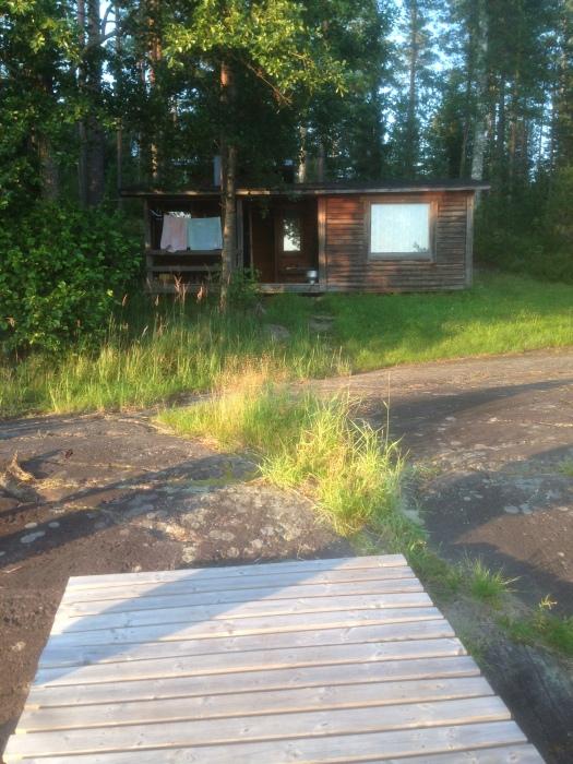 Lakeside wood-burning sauna