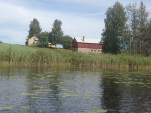 Satu's grandparents old house, as seen from the lake