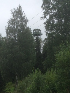 Border control tower, Finnish side of the border