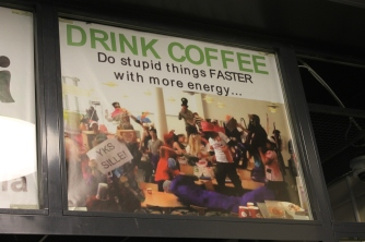 SeAMK's coffee shop sums up Finland's attitude to caffeine :-)
