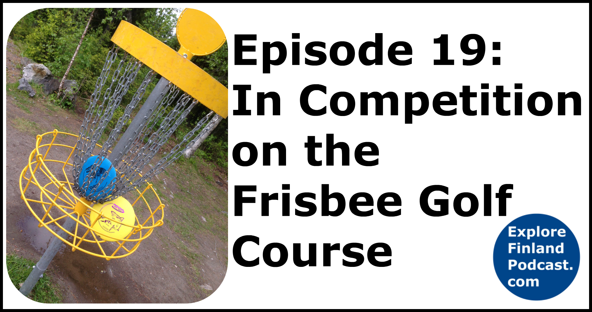 Disc Golf Course Equipment ~ In competition on the frisbee golf course explore