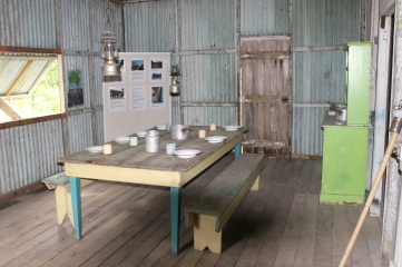 The plantation house kitchen