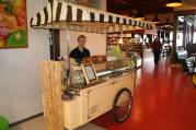A traditional ice cream cart