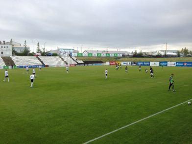 The away game against FH (Iceland) kicks off. Photo courtesy Antti Huhtamäki / SJK Media Team