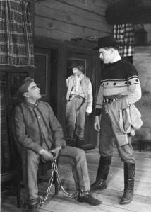 Black & white still image from the movie Pojalaisia. Image: www.elokuvauutiset.fi