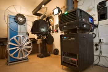 The Projection Room: 32mm and Digital 3D projectors ready for action. Picture: Matin-Tupa