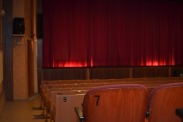 Looking towards the screen and the wooden seats. Picture: Matin-Tupa
