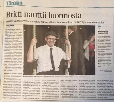 Brit Enjoys Nature. How the news was reported in Ilkka Newspaper