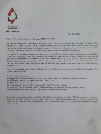 Press Release, Regional Developer of the Year