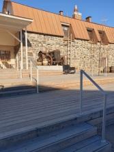 Sun terrace outside Kyrö Tourism Board (Kyrön Matkailun Edistämiskeskus)