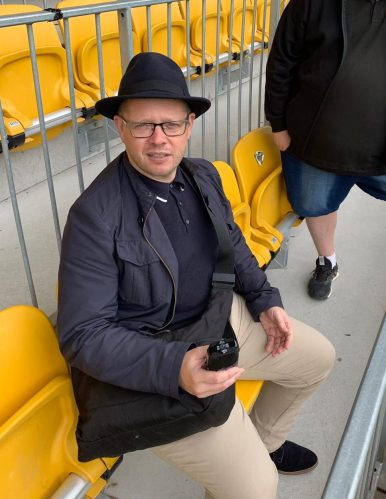 Mark W actually sitting in the safe-standing area