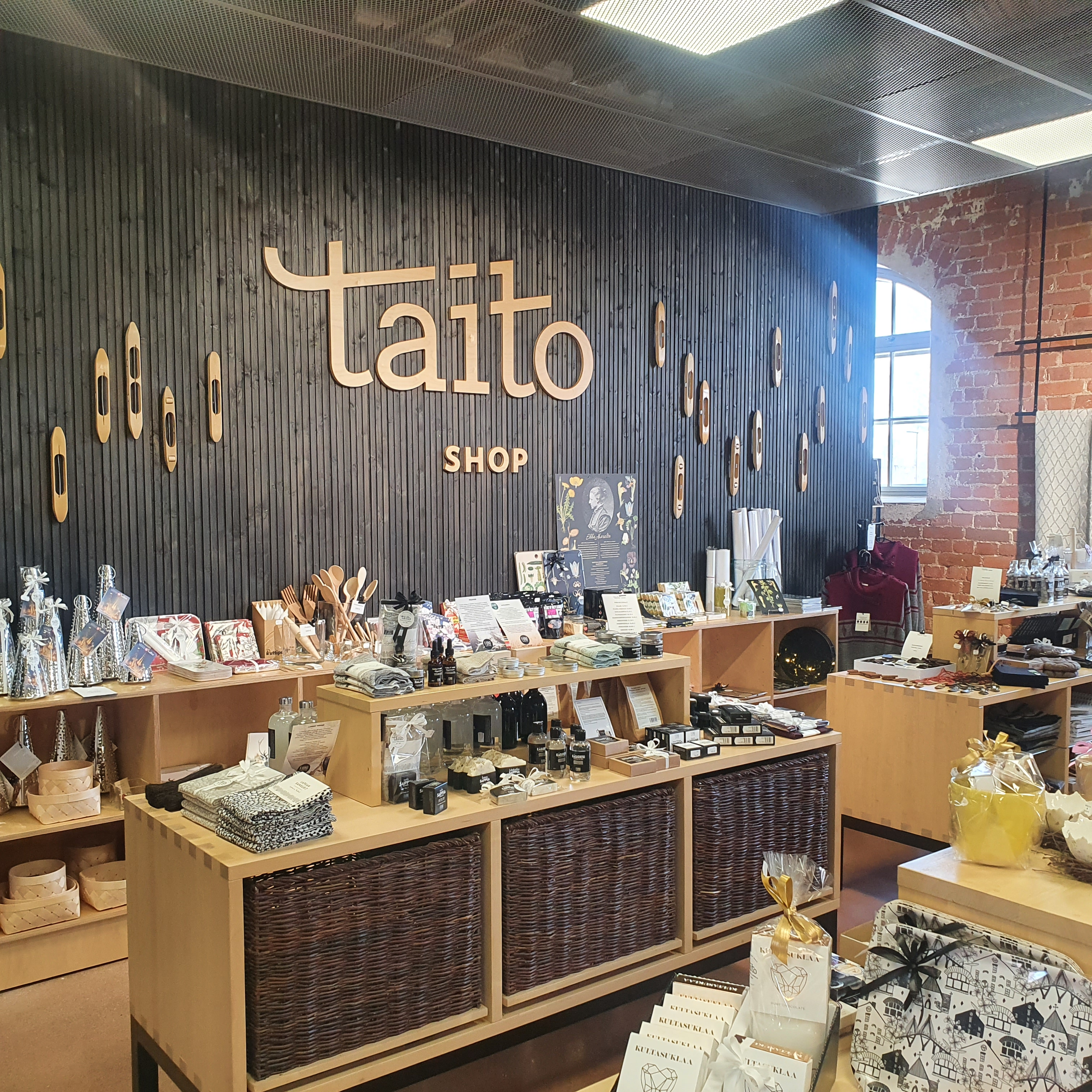 Taito Shop selling locally produced art and crafts